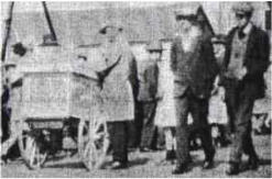 Front Street and Pennar Regattas were a feature of Summer life. Mr Giovanni Monti (right, with  flat cap and ice cream cart) provided refreshment