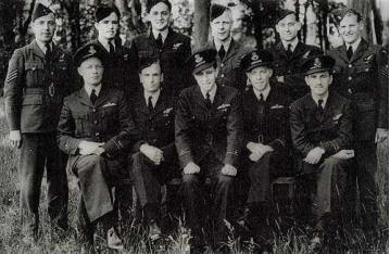 he author and his crew at RAF Pembroke Dock during World War II.